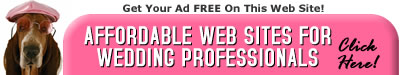 Affordable Wedding Web Sites for Wedding Professionals - Click Here